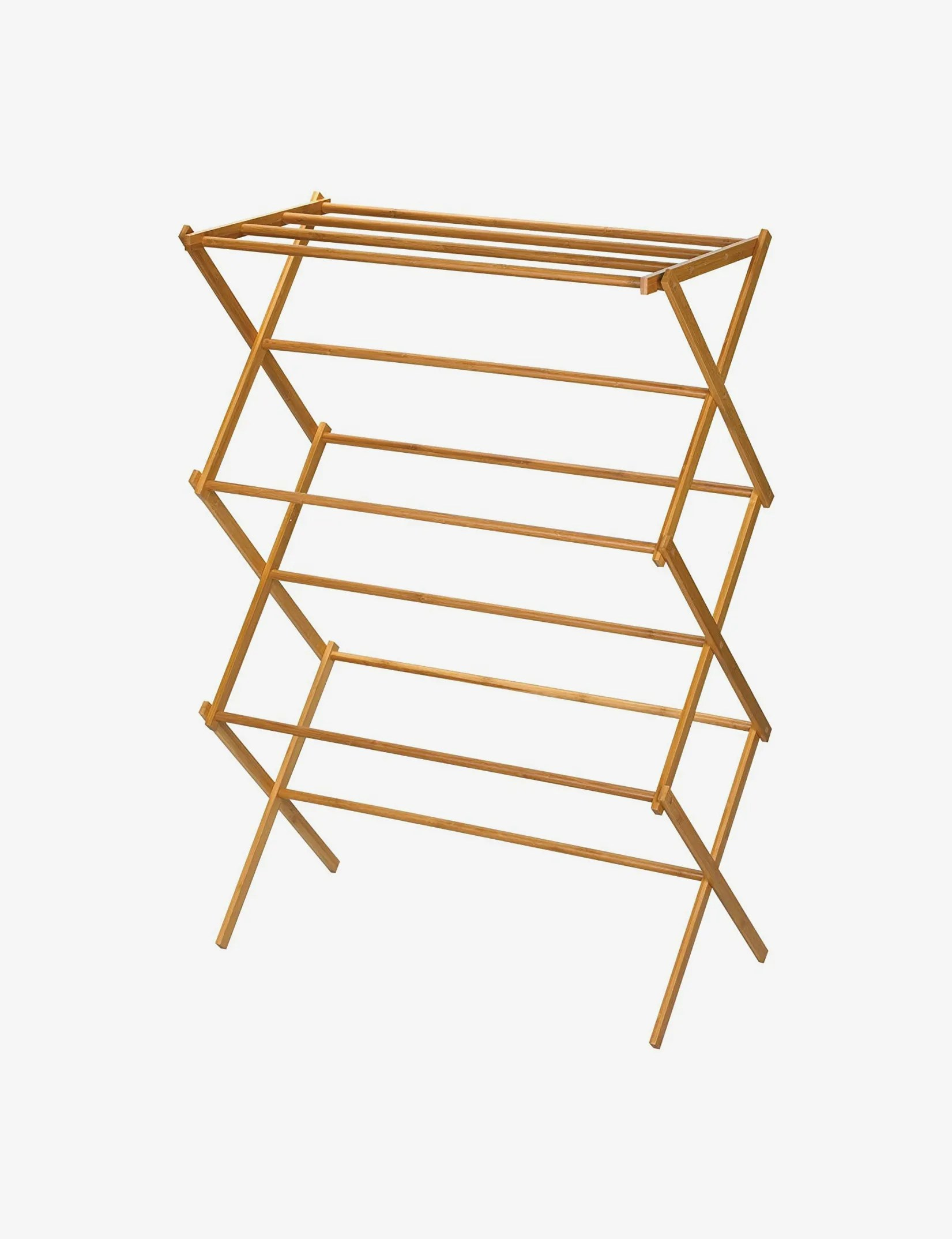 household essentials tall indoor folding wooden clothes drying rack