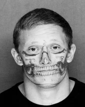 Face Skull Tattoo : skull, tattoo, California, Inmate, Full-Face, Skull, Tattoo, Loose
