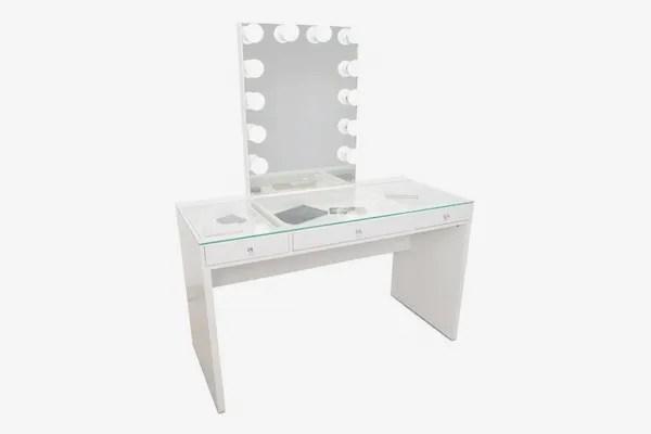 Impressions Slaystation Plus 2.0 Table + Glow XL Vanity Mirror Bundle