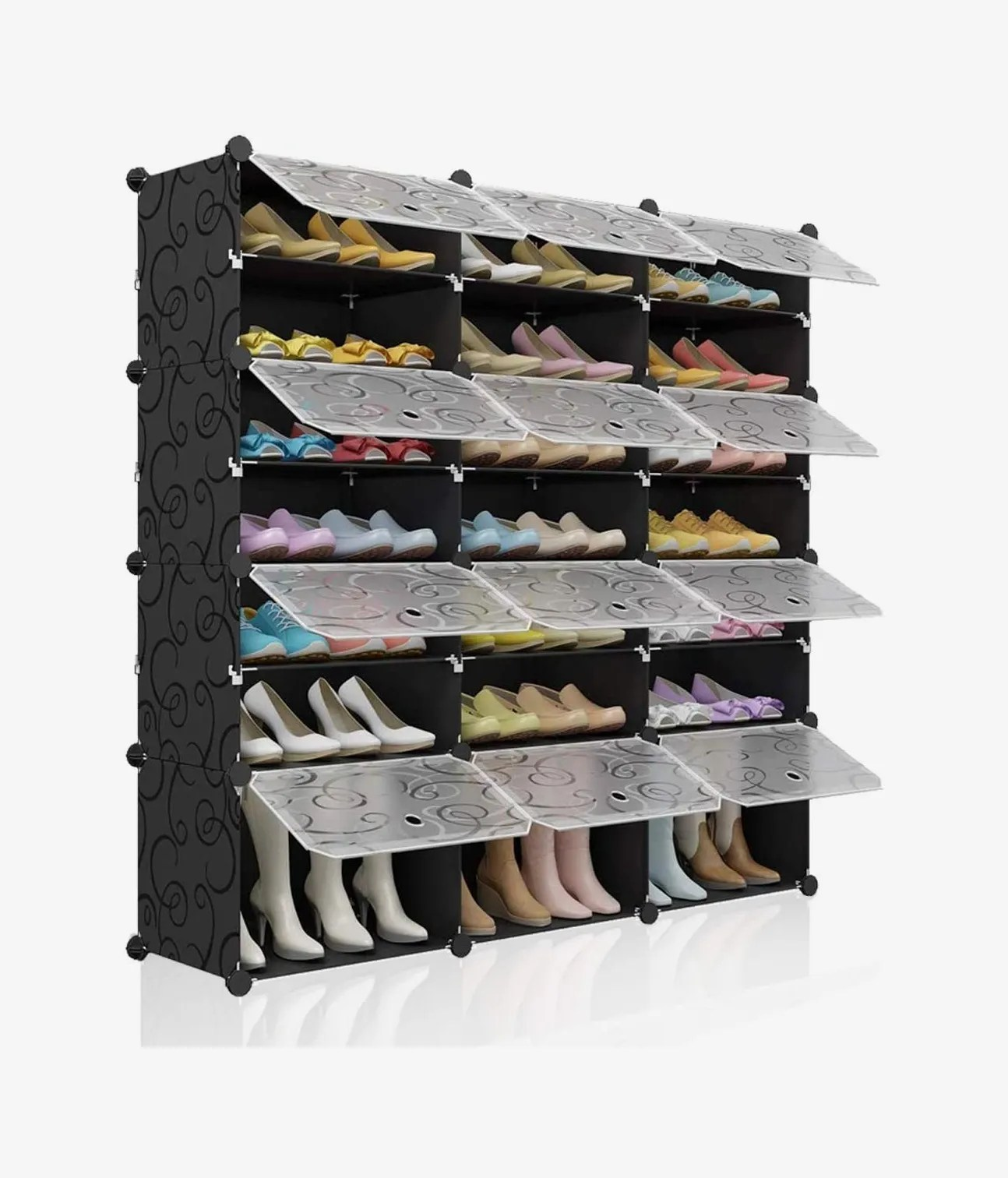 kousi portable shoe rack organizer 48 pairs