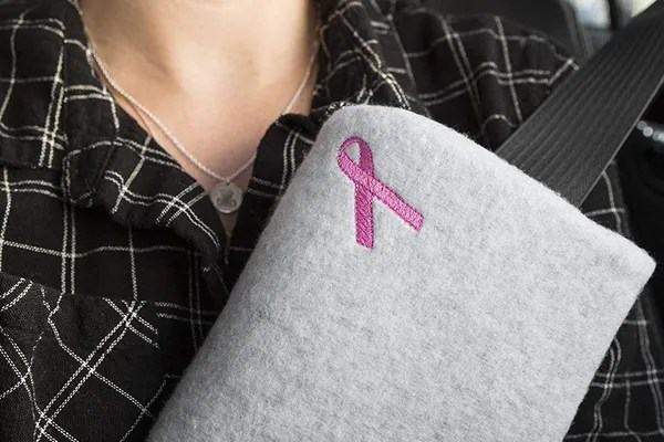 the breast chest buddy mastectomy pillow and seat belt cushion