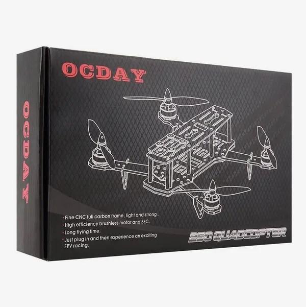 OCDAY 250 Racing Quadcopter, DIY Carbon Fiber Frame Kit with Camera & Transmitter