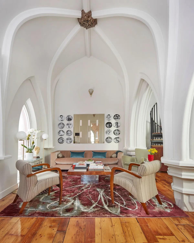 Living In A Church : living, church, Apartment, Inside, Former, Church, Jersey