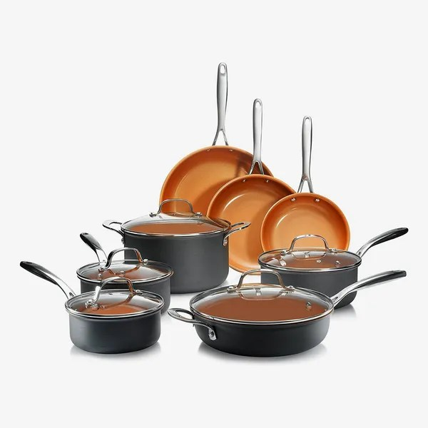 Gotham Steel Hard Anodized 13 Piece Pots and Pans