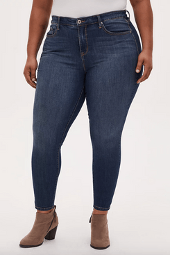 Torrid Sky High Skinny Jean Premium Stretch Dark Wash