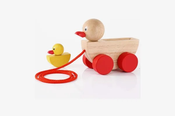 Babe Rock Toys Wooden Ducks Pull Toy