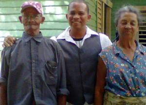 Mr.and Mrs.Morphe 101 & 86 yrs with son Eduardo