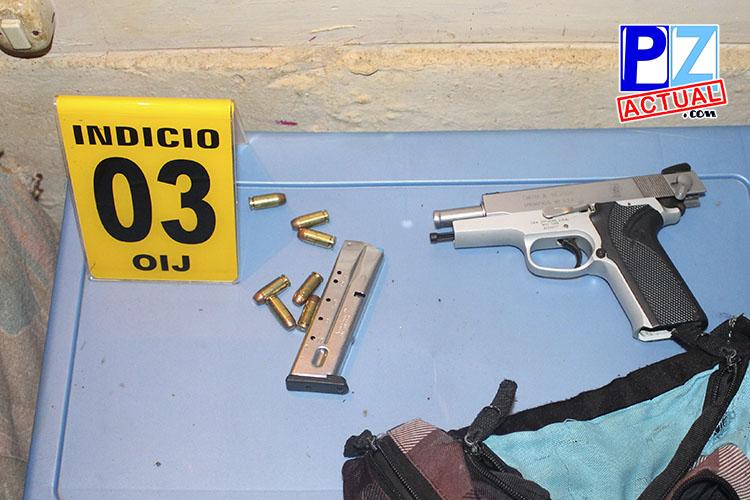Droga y arma incautada www.pzactual.com