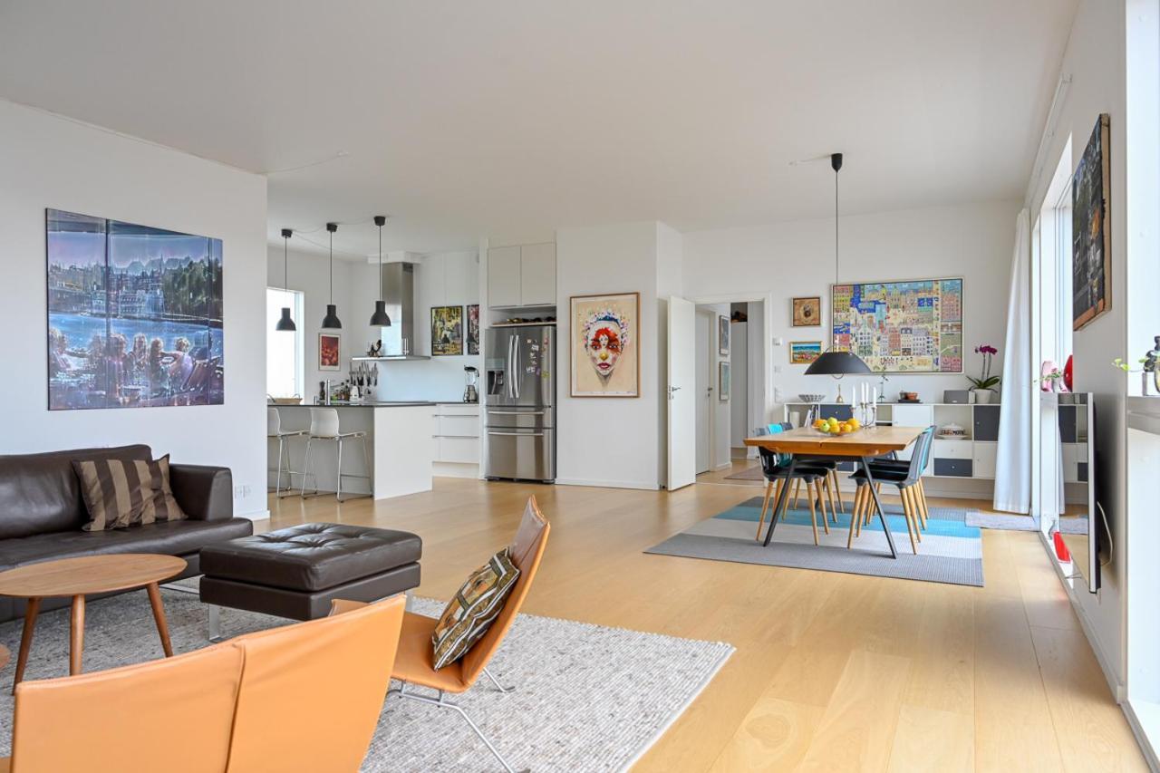 Modern Bright Penthouse Apartment Copenhagen Denmark