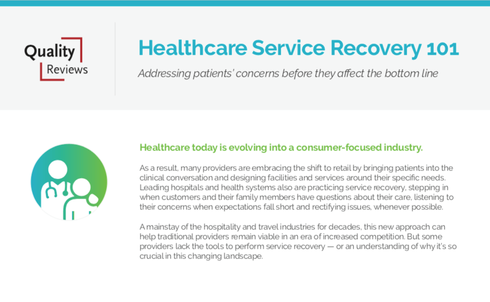 Healthcare Service Recovery 101