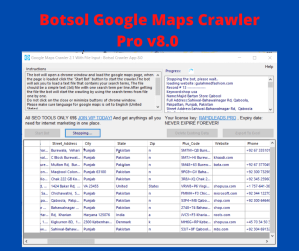 Botsol Google Maps Crawler Pro v8.0 - With Multiple Input User
