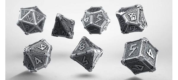 metal mythical dice set