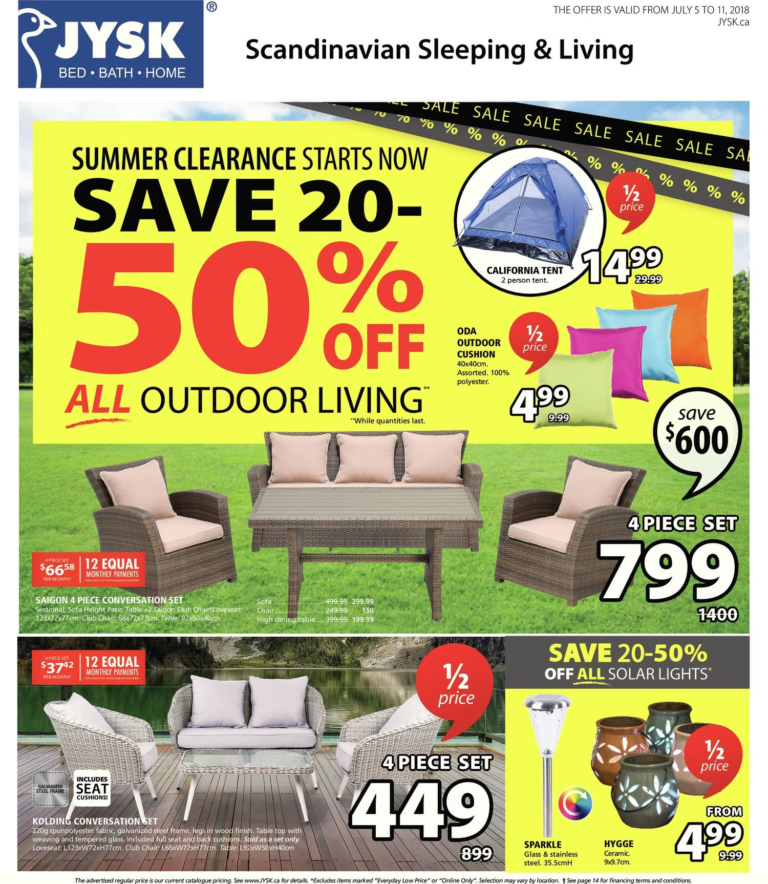 hanging egg chair jysk round office tables and chairs weekly flyer summer clearance starts now jul 5