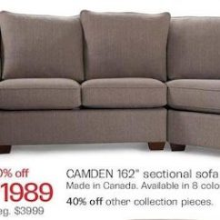 Bay Sofa Beds San Francisco Area The Camden 162 Sectional In Taupe Redflagdeals Com