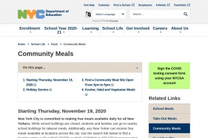 Read more about the article Community meals program over the winter break 2020