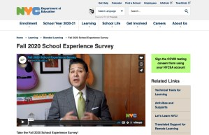 Read more about the article DOE's Fall 2020 School Experience Survey