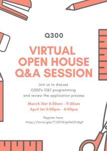 Q300 Kindergarten G&T Open House for 2021-2022