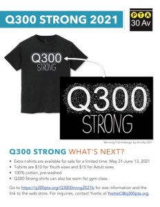 Read more about the article Q300 Strong T-Shirt Fundraiser (6/1/2021-6/14/2021)