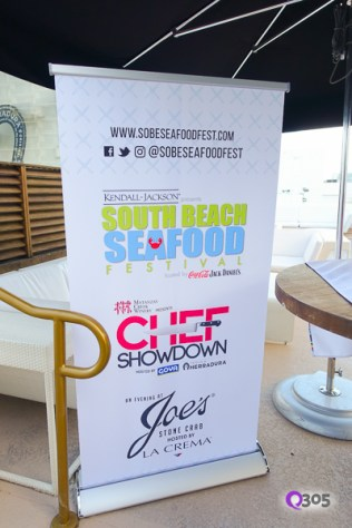 Sign of South Beach Seafood Festival Chef Showdown