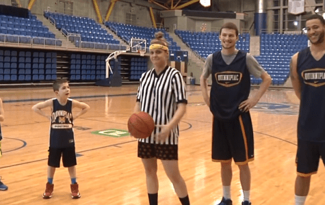 """Quinnipiac Tonight"" hosts 'have fun' with coach's kids"