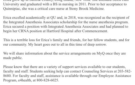 Third-year graduate student passes away