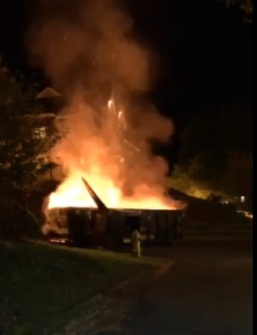 Dumpster fire causes commotion overnight
