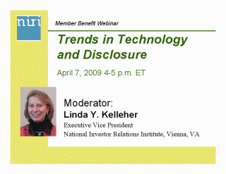 NIRI Trends in Technology and Disclosure