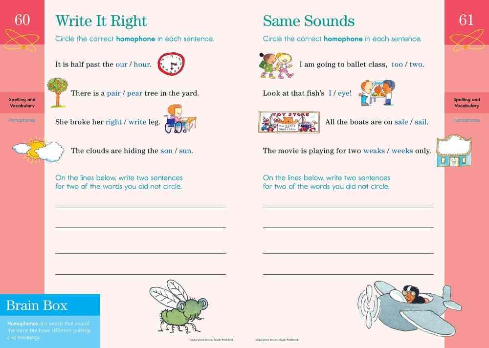 medium resolution of Brain Quest Workbook: Grade 2 - A2Z Science \u0026 Learning Toy Store