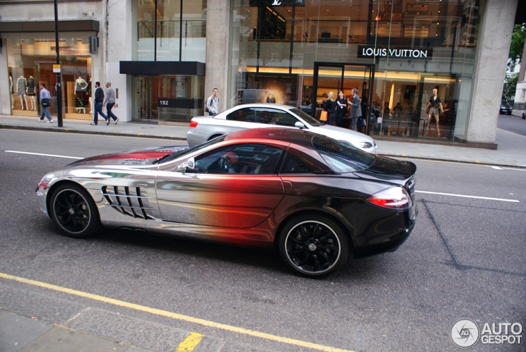 mercedes benz slr mclaren unique paint job q8 all in one
