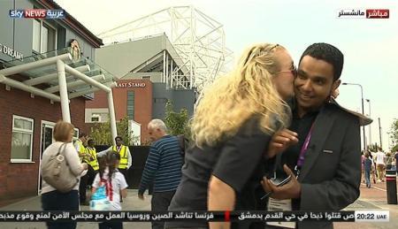 Sky News Reporter Kiss