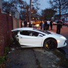 Lamborghini Aventador Splits In Half During Car Crash