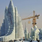 Giant Castle Built Entirely From Ice in China
