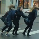 Strong Winds in Norway Blow People Around