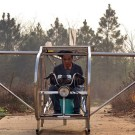 Chinese Farmer Builds Home Made Helicopter