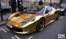 Ferrari 458 Spider Wrapped in Gold Vinyl