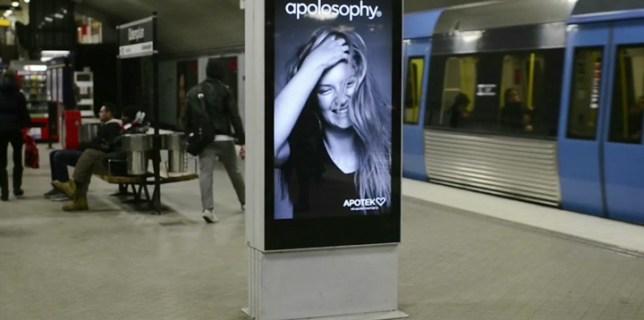Hair Blowing Subway Ad