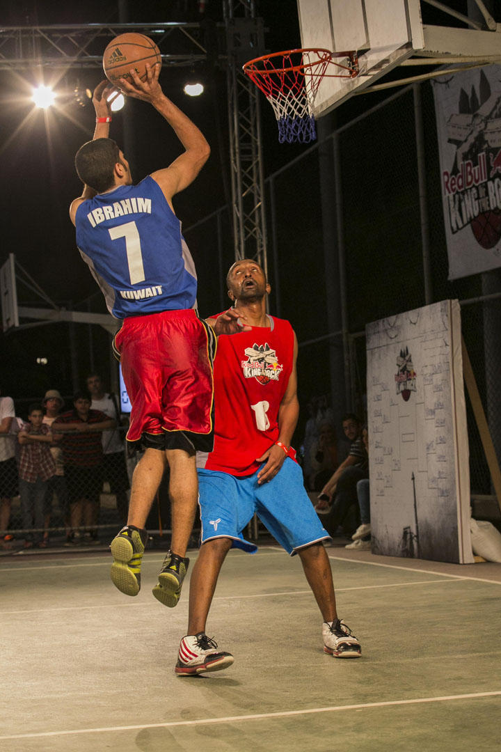 Ibrahim and Maher performing Red Bull King of the Rock finals in Kuwait