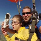 Skydiving Instructor Hit in the Face with a Shoe
