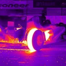 Formula 1 Car Shot With Thermal Vision