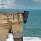 Modular Cliff House Hangs Over A Cliff's Edge