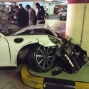 Valet Driver Smashes Porsche Into Concrete Pillar In Salhiya