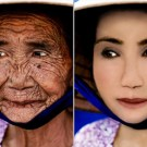 Woman Aging Backwards in Photoshop