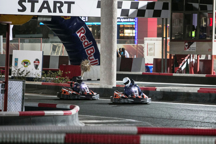 Competitors participating in the Kart Fight on Sirbb Circuit in
