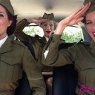 Three Models Lip-Syncing Greatest Hits In Their Car