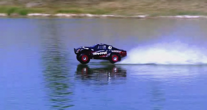 Car Driving On Water