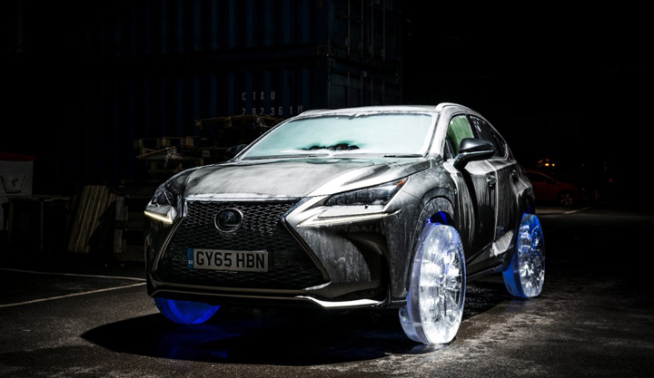 Lexus ice wheels car