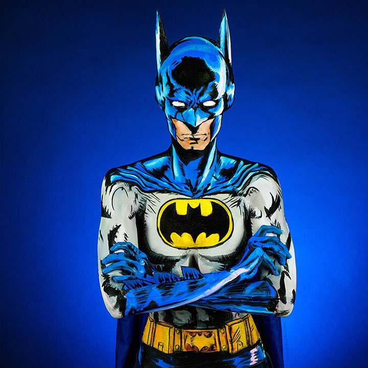 Batman Body Painting