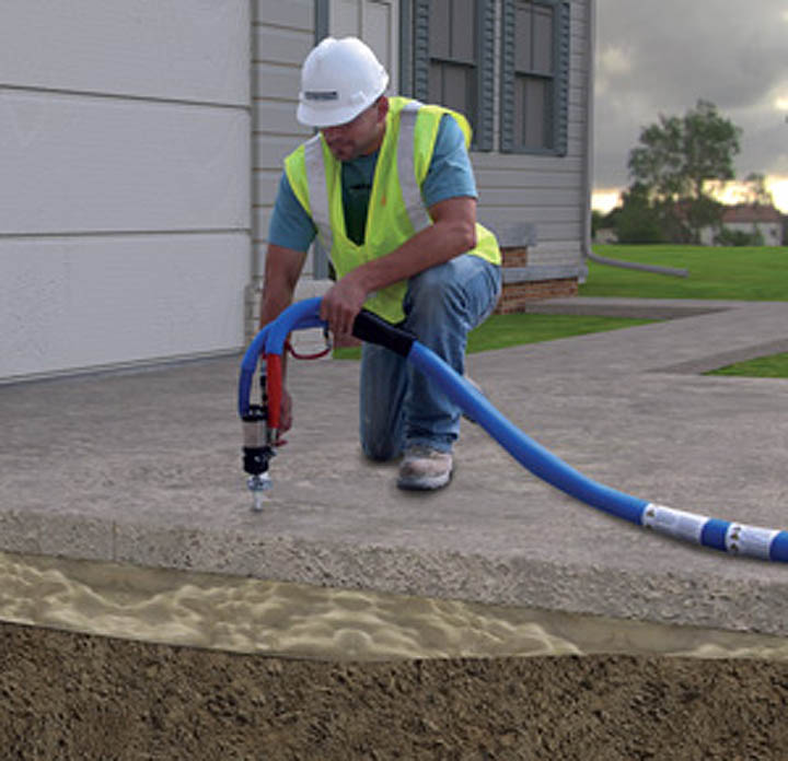 Polylevel Foam Lifting Concrete