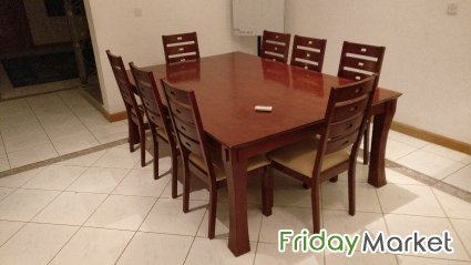 Wooden Dining table set in Qatar  FridayMarket