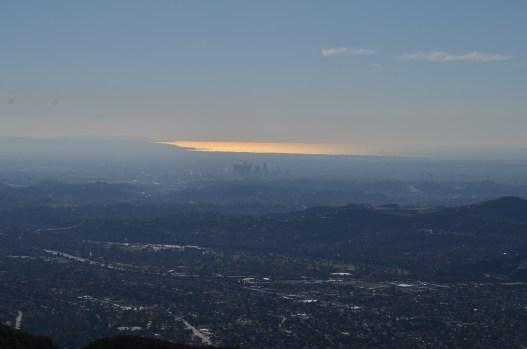 Superbe vue jusqu'à l'océan, en passant par Los Angeles
